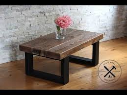 reclaimed wood coffee table with steel