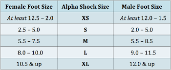 Shock Measurement Chart Size Chart Apolla Performance Wear