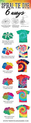 Tie Dye Patterns Enchanting So Many Ways To Tie Dye Your Spiral Tee This Summer Try One Of