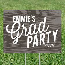 Weathered Wood Look Yard Sign Graduation Party Decorations Pear Tree