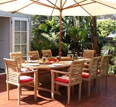 Extending Outdoor Dining Table Teak Oval Extending Outdoor Dining Table 180 240cm