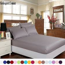 100 cotton sheets queen. Modren 100 Home Textile 100 Cotton Sheets Stripe Mattress Cover Bed Sheet Solid Color  Fitted Bedspread Twin Full Queen King 8 Size Inside 100 Cotton Sheets Queen