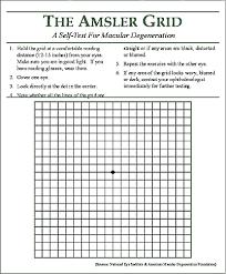 Amsler Chart Amsler Grid Eye Chart