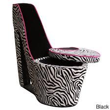 Zebra Print <b>High Heel Chair</b> | Wish