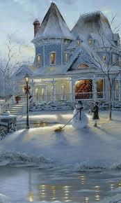Christmas Scenes Free Downloads Winter Christmas Snow Scene Classic Round Sticker Snow