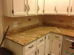 backsplash for santa cecilia granite countertop. With White Cabinets Backsplash For Santa Cecilia Granite Countertop Green Foot Rails Bar Stools Custom Islands That Look Like 6