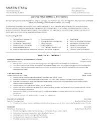Sample Investigator Resume Resume Letter Collection