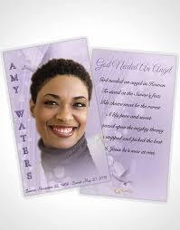 Funeral Prayer Cards Prayer Card Template Free Spirit Lavender Honor