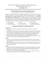 Maintenance Resume Cover Letter Resume Maintenance Resumes Toreto Co Sample Facility Engineer Good 37