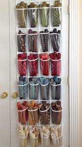 32 best Sewing-Room Organization images on Pinterest | Organizers ... & Use a clear over-the-door shoe hanger to store projects. Use one row or  column per project to keep things organized. Adamdwight.com
