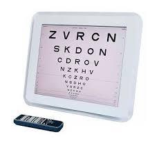 Digital Vision Chart Snellen Logmar Vision Test Chart C 901 850 00 Picclick Uk