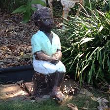 black fishing boy concrete garden statue diy projects