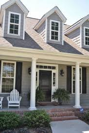 outside house color dark gray exterior paint color with black door and white trim