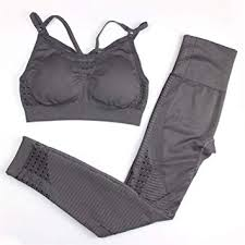 Energy Seamless Leggings+Strappy Bra Yoga <b>Set Women Gym</b> ...