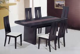 modern black dining table. unique frosted glass top modern dinner table set dining tables black d