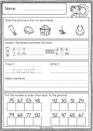Kindergarten At Word Family Worksheets Kindergarten 2017 Olivia ...