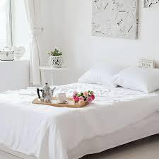bamboo sheets plain white bedding duvet