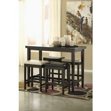 Kimonte RECT Dining Room <b>Counter</b> Table, <b>2</b> Cream UPH ...