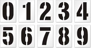 number templates 1 10 parking lot stencils huge collection of reusable stencils online