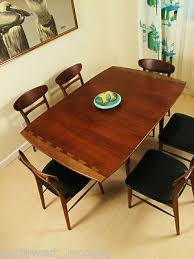 danish modern mid century dining table lane dovetail drop leaf andre bus used mid century modern furniture auctions