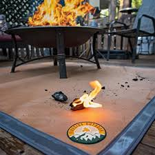 Amazon Com Ember Mat 67 X 60 Fire Pit Mat Grill Mat Protect Your Deck Patio Lawn Or Campsite From Popping Embers Sports Outdoors