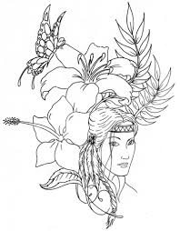 Small Picture Coloring Pages Native Americans Coloring Pages Pocahontas Native