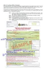 sample bol g e s example sample bol freeman logistics freight broker