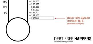 Debt Free Charts Printable Free Debt Thermometer Template