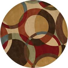 artistic weavers seletar brown 8 ft round area rug mcl7108 8rd the home depot
