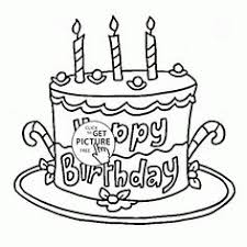 Small Picture Happy 1st Birthday Cake coloring page for kids holiday coloring