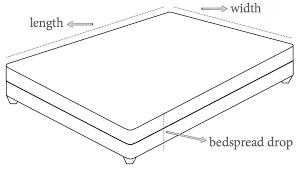 Comforter Measurements Chart Bedspread Sizes Oversized Bedspreads Bedspread Styles