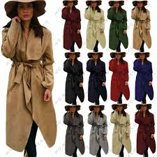 las women italian waterfall long duster belted parka