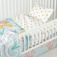 marine little mermaid toddler bedding