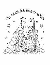 Free Christian Christmas Coloring Pages Printable L