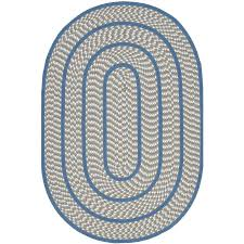 safavieh braided ivory and blue oval indoor braided area rug common 4 x 6