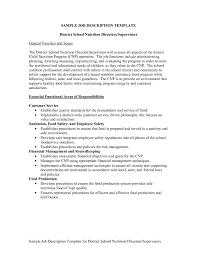 Job Description Template Sample Job Description Template Template's 17