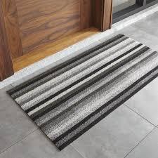 front door mats outdoorChilewich Grey and Black Doormat  Crate and Barrel