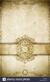 aging paper background with decorative vine frame elegant border and old fashioned ornament old book page design