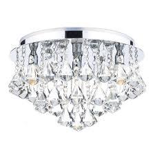 fri0450 fringe 4 light bathroom crystal flush