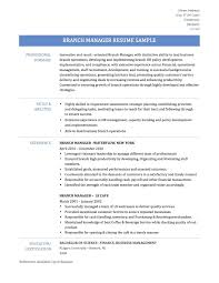 Fantastic Resume Bank Manager Position Embellishment Documentation