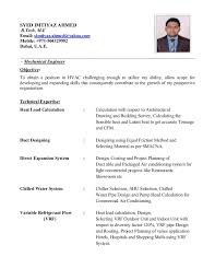 Hvac Engineer Sample Resume Sarahepps Com