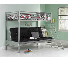 metal bunk bed futon. HOME Metal Bunk Bed Frame With Futon - Black N