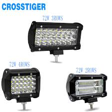 Security Lights For Cars Us 9 29 30 Off 72w Led Bar 4 5 7 Inch Car Barra 4x4 Off Road Led Work Light Bar Led Work Lights Car Light Suv Truck Headlight Cars Accessories In