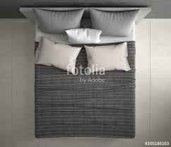 double bed top view. Delighful Top Modern Bedroom Top View Closeup On Double Gray And Cream Bed Marble Floor Intended Double Bed Top View O