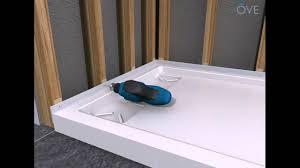 ove shower base installation general guidelines