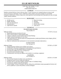 Software Tester Resume Example Good Resume Template