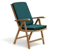 teak recliner garden chair with green cushion jati brand quality value co uk garden outdoors
