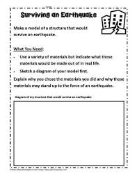 Each lesson is designed using the 5e method of instruction to ensure maximum comprehension by the students. Inquiry For Earthquake Survival Worksheets