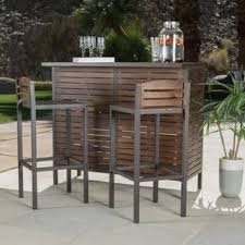 outdoor bar table and chairs. Milos Outdoor 3-piece Acacia Wood Bistro Bar Set By Christopher Knight Home Table And Chairs D