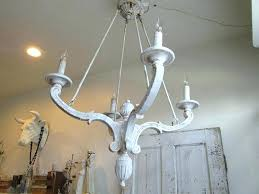 chandeliers distressed white chandelier french farmhouse wooden lighting lg blue wood